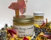 Calendula, Borage, Lavender, Rose salve