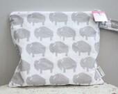 Wet Bag wetbag Diaper Bag ICKY Bag wet proof grey gym bag swim cloth diaper accessories zipper shower gift newborn baby child kids summer