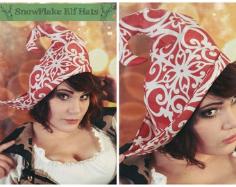Snowflake Elf Hat-Fits all Sizes-Super Cute!