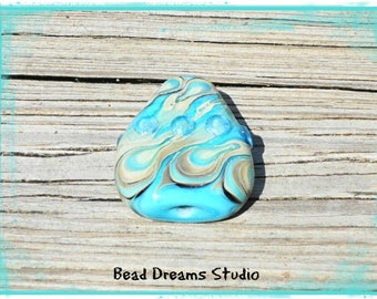 High Tide Lampwork Focal Bead