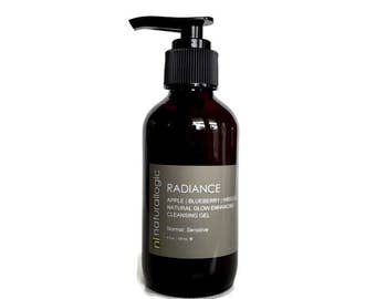 RADIANCE Cleansing Gel. Facial Cleanser. Face Wash. Normal, Combination, Sensitive, Mature. Natural Organic SKin Care. Vegan.