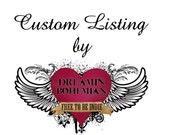 Custom Chucks Listing for Valerie