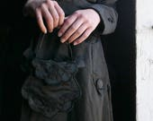 Victorian Black Silk Purse