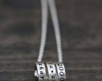 wrapped message necklace