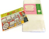 Three NIP Cotton Sacking Towels & Unused Vogart Embroidery Transfer Pattern | JCPenney NOS Flour Sack | Kitchen Embroidery Design Transfers