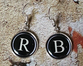 Choose your Letters ...... Personalised Vintage Typewriter Key Earrings