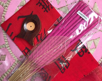 Incense with oriental style pouch