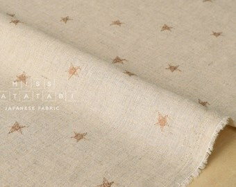 Japanese Fabric Embroidered Stars - latte - 50cm