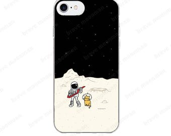 iPhone 6s Case iPhone 7 Case Astronaut Brave Moonman iPhone 7 Plus Case Keytar Clear iPhone 6 Case Space Kitty Gift Idea