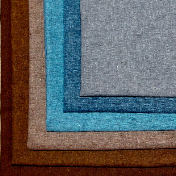 Robert Kaufman Essex Yarn Dyed Linen Cotton Blend Fabric