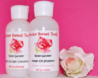 ROSE GARDEN Argan Oil Shampoo & Conditioner Set (Sulfate and Paraben Free)
