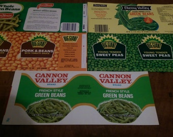 25 x VEGETABLE Vintage Can Labels peas and beans