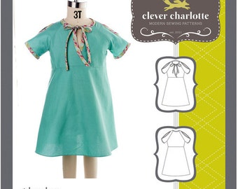 Clever Charlotte PATTERN - Galena Dress - Sizes 2T-8