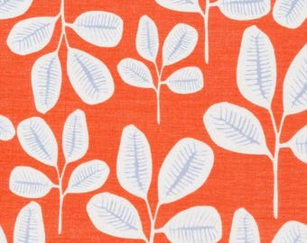 20% Off! Leah Duncan for Cloud 9 ORGANIC FABRIC - Floret Batiste - Friday Fronds in Tangerine