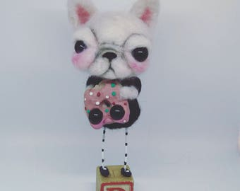 On hold for Mildred The Frenchi  and the donut Ooak art doll