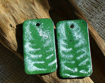Enameled Copper Earring Pair Christmas by Catalinaglass SRA