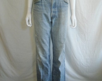 Vintage LEVIS 517 Jeans 34 Waist Orange Tab, Light Blue Levis Jeans