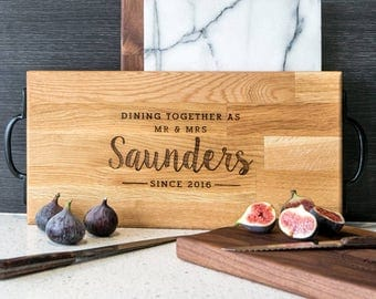 Large Personalized Cheese Board Personalised Serving Platter Large Engraved Wedding Gift Cheese Board 37x20cm NOW 50% OFF!