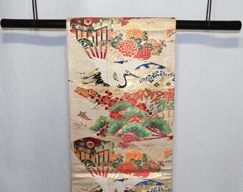 Black Obi Bamboo Display Rod Hanger For Japanese Obi Sashes Belts
