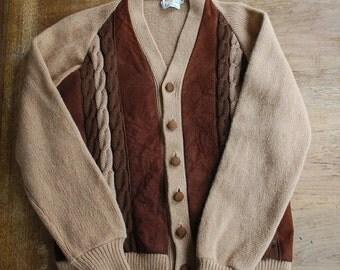 Vintage Grant Crest  Cardigan Retro Sweater