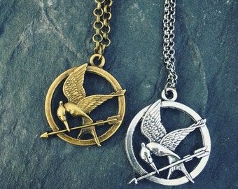 Mockingjay hunger games necklace