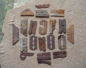 Rusty Razor Blades Metal Findings Parts Found Object - Altered Art, Jewelry Sculpture Supplies Assemblage- Industrial Salvage