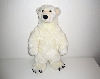 Polar Bear Plush Toy - Stuffed Animal - Tall Standing Polar Bear - Ice Bear Arctic Creature