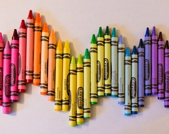 Rainbow Crayon Photo, Colorful Playroom Art, Children's Wall Decor, Crayons Wall Art, Colorful Kids' Art, Rainbow Wall Art, Wavy Rainbow