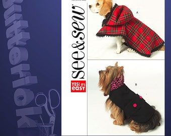 Butterick Sewing Pattern 5126 Doggie Coats All Sizes XS-L uncut