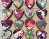 Reserved listing for mishyyun 16 Heart shaped marbled crayons Valentine's Day party favors