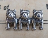 Vintage Dog Head Pin French Bulldog