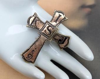Vintage Cross Pin Religious