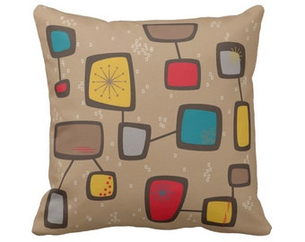 """Contactual Throw Pillow in 16""""x16"""" or 20""""x20"""" Fabric & Color Choice with Free Shipping"""