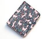Vinyl Passport Case - Unicorn Forest / traveller, floral, magical, kids, childrens, flowers, pretty, passport, vinyl, gift, woman's, wallet