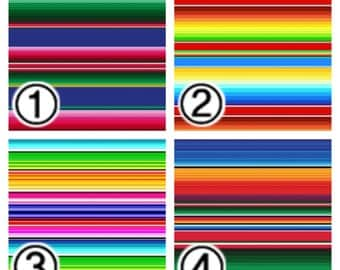 "Printed Vinyl, Patterned Vinyl, Vinyl Prints, Sheet size 12""x12"", Heat Transfer Vinyl, Vinyl Sheets, Serape Mexican Blanket Vinyl SKU 0281"