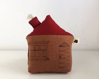 Stuffed House, Plush Toy, Plushie House, Stuffed Toy, Nursery Toy, House Pillow, Plush House, Red Elk Toy, Baby Shower
