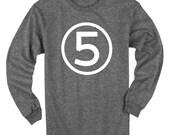 Fifth Birthday Long Sleeve Heather Black Kids T-Shirt