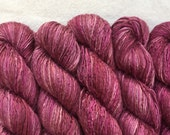 Silk Yarn - Hand Dyed Worsted weight - Shade: Berries (5)