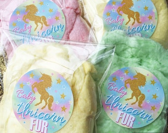Unicorn Stickers,Unicorn Birthday party,Baby Unicorn Fur,Cotton Candy,Unicorn Hair,Personalizaed stickers,Rainbow Unicorn,unicorn favors