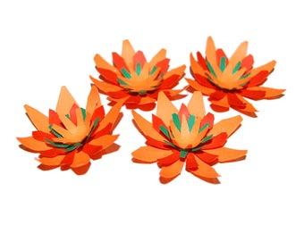 Bright Paper Flowers - Set of 4 - Fiesta Colors