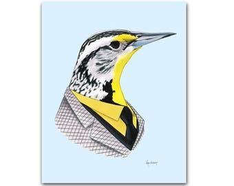 Western Meadowlark art print 5x7