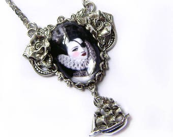 Queen of the Briney Deep - Darkly Lovely Pirate Woman Necklace