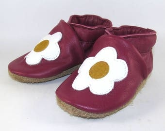 Soft Sole, Leather Baby Shoes, Baby Moccs, 6 to 12 Month