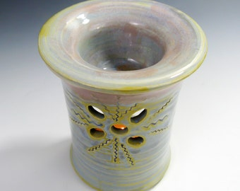Aromatherapy - Essential Oil Diffuser - Pottery Oil Warmer - Ceramic Tart Warmer