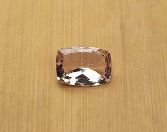 Natural Genuine Morganite - 7.12 x 9.66mm, 3.65mm deep Rectangular Cushion shape Loose Pink Morganite Gemstone, 1.63 carats - LSG1032