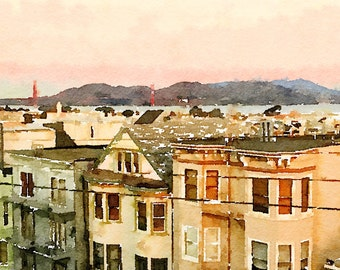 CUSTOM Watercolor Art Print (Home, Special Place or Landscape) : Digitally-Produced w/ Beautiful, Realistic Quality -- Send Us YOUR Photo