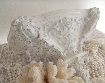 White French Style Shelf Goddeses Fleur de Lis Paris Apartment Chic 1960s French cottage