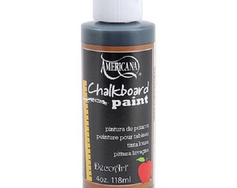 Americana DecoArt Chalkboard Paint, Black, 4 Ounce Bottle