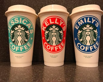 Personalized Starbucks Coffee Cup