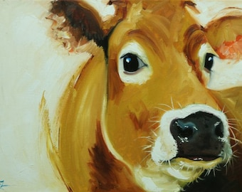 Cow painting 1195 18x24 inch animal original oil painting by Roz
